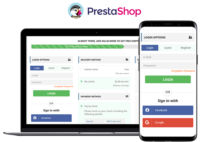 PrestaShop One Page Checkout