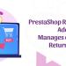 PrestaShop Return Manager addon- manages eCommerce returns easily